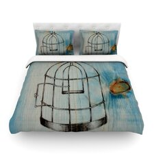 Bird Cage by Brittany Guarino Light Duvet Cover