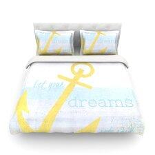 Let Your Dreams Set Sail by Alison Coxon Light Cotton Duvet Cover