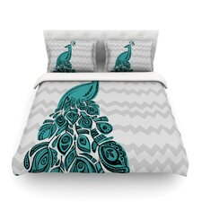 Peacock by Brienne Jepkema Light Duvet Cover