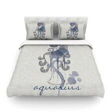 Aquarius by Belinda Gillies Woven Duvet Cover