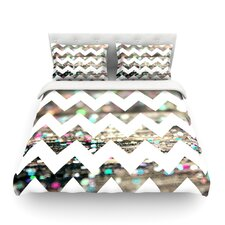 After Party Chevron by Beth Engel Light Duvet Cover