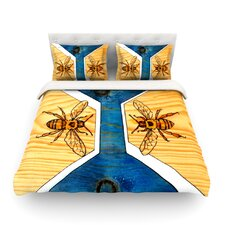 Bees by Brittany Guarino Light Duvet Cover
