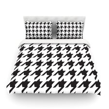 Spacey Houndstooth by Empire Ruhl Light Duvet Cover