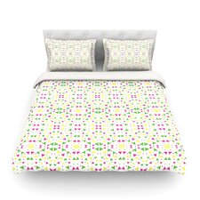 Neon Triangles by Empire Ruhl Light Duvet Cover