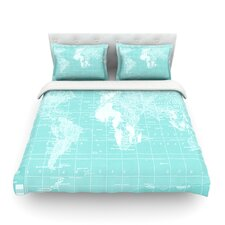 Welcome to my World by Catherine Holcombe Light Duvet Cover