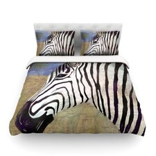 Zebransky by Catherine Holcombe Featherweight Duvet Cover