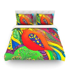 Psycho-Delic Dan Light by Catherine Holcombe Duvet Cover