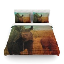 Abstract Rhino by Danny Ivan Light Duvet Cover