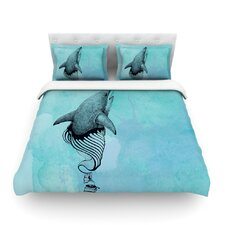 Hot Tub Hunter by Graham Curran Light Cotton Duvet Cover