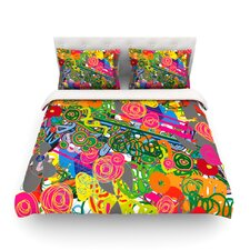 Psychedelic Garden Light by Frederic Levy-Hadida Duvet Cover