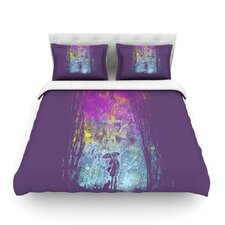 Purple Rain Light by Frederic Levy-Hadida Featherweight Duvet Cover