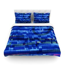 Squares Traffic by Frederic Levy Hadida Featherweight Duvet Cover Size: King/California King, Color: Blue