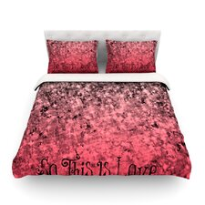 So This Is Love Light by Ebi Emporium Featherweight Duvet Cover