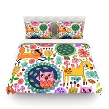 Woodland Critters by Jane Smith Featherweight Duvet Cover