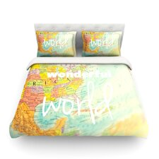 What a Wonderful World Light by Libertad Leal Duvet Cover