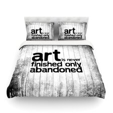 Art Never Finished Featherweight Duvet Cover