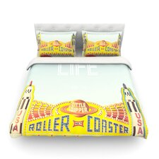 Life is a Rollercoaster Light by Libertad Leal Featherweight Duvet Cover