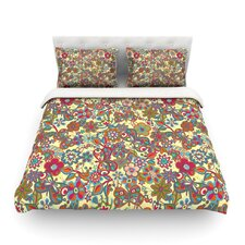 My Butterflies and Flowers by Julia Grifol Light Cotton Duvet Cover