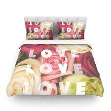 Love Love Love by Libertad Leal Light Duvet Cover