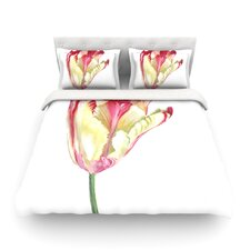 Red Tip Tulip by Lydia Martin Featherweight Duvet Cover