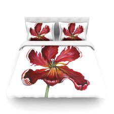Open Tulip by Lydia Martin Light Cotton Duvet Cover