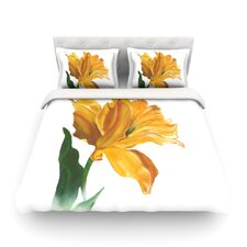 Yellow Tulip Light by Lydia Martin Duvet Cover