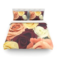 Vintage Roses by Libertad Leal Light Duvet Cover