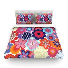 Patchwork Flowers by Louise Machado Light Cotton Duvet Cover
