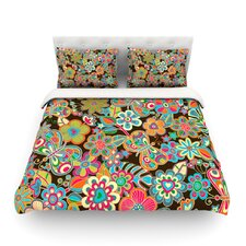My Butterflies and Flowers by Julia Grifol Light Duvet Cover