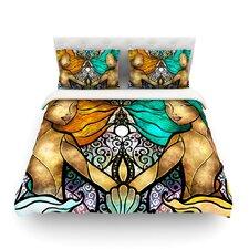 Mermaid Twins by Mandie Manzano Featherweight Duvet Cover