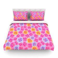 My Pink Garden by Julia Grifol Light Duvet Cover