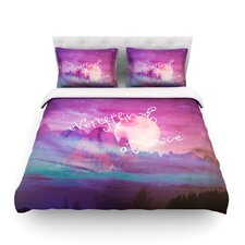 Everything at Once by Monika Strigel Light Duvet Cover