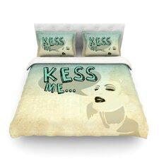 Kess Me Light by iRuz33 Cotton Duvet Cover