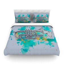 Hunting for Jazz by Kira Crees Light Cotton Duvet Cover
