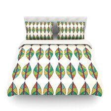 Tribal Leaves by Pom Graphic Design Featherweight Duvet Cover
