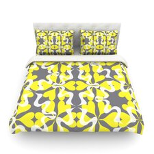 Flowering Hearts by Miranda Mol Featherweight Duvet Cover