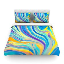 Rainbow Swirl by Ingrid Beddoes Featherweight Duvet Cover