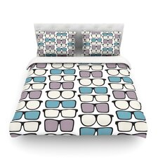 Spectacles Geek Chic by Michelle Drew Light Duvet Cover