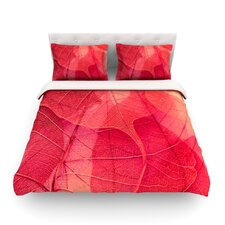 Delicate Leaves by Ingrid Beddoes Light Cotton Duvet Cover