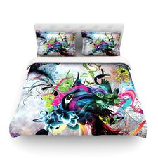 Streaming Eyes by Mat Miller Abstract Featherweight Duvet Cover