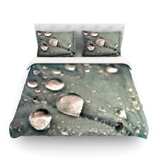 Water Droplets by Iris Lehnhardt Featherweight Duvet Cover