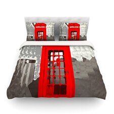 London by Oriana Cordero Featherweight Duvet Cover