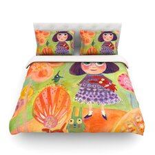 Flowerland by Marianna Tankelevich Cotton Duvet Cover