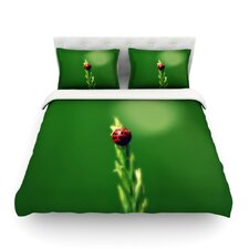Ladybug Hugs by Robin Dickinson Duvet Cover