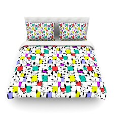 My Happy Squares by Julia Grifol Light Duvet Cover