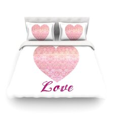 Love by Pom Graphic Design Duvet Cover