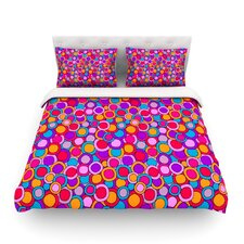 My Colourful Circles by Julia Grifol Light Duvet Cover
