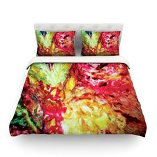 Passion Flowers I Light by Mary Bateman Featherweight Duvet Cover