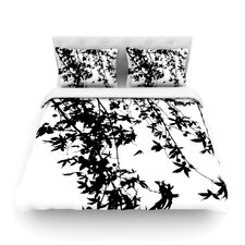Black on White by Ingrid Beddoes Featherweight Duvet Cover