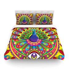 Peacolor by Roberlan Rainbow Peacock Duvet Cover